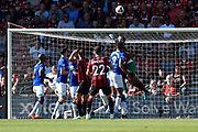 Jordan Pickford (1) of Everton punches the ball clear during the Premier League match between Bournemouth and Everton at the Vitality Stadium, Bournemouth, England on 15 September 2019.