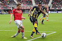 (L-R) Jonas Svensson of AZ Alkmaar, Sean Klaiber of FC Utrecht