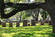 President Lyndon Johnson&rsquo;s grave in the family cemetery at the LBJ Ranch near Johnson City Texas.<br /><br />Photo by Dennis Brack