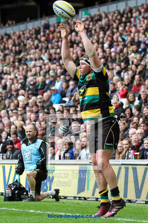 Dylan Hartley of Northampton Saints during the Aviva Premiership match at stadium:mk, Milton Keynes<br /> Picture by Andy Kearns/Focus Images Ltd 0781 864 4264<br /> 16/04/2017