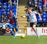 Dundee's Greg Stewart runs at Inverness' Greg Tansey  - Inverness Caledonian Thistle  v Dundee, Ladbrokes Scottish Premiership at Caledonian Stadium <br /> <br />  - © David Young - www.davidyoungphoto.co.uk - email: davidyoungphoto@gmail.com