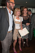 CHARLIE MCVEIGH,, RACHEL JOHNSON; CAROLINE MICHELL Party to celebrate the publication of 'Winter Games' by Rachel Johnson. the Draft House, Tower Bridge. London. 1 November 2012.