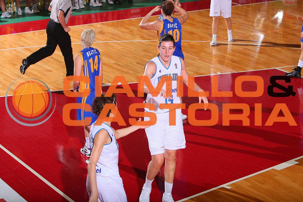 DESCRIZIONE : Schio Qualificazione Eurobasket Women 2009 Italia Bosnia <br /> GIOCATORE : Giauro <br /> SQUADRA : Nazionale Italia Donne <br /> EVENTO : Raduno Collegiale Nazionale Femminile <br /> GARA : Italia Bosnia Italy Bosnia <br /> DATA : 06/09/2008 <br /> CATEGORIA : Esultanza <br /> SPORT : Pallacanestro <br /> AUTORE : Agenzia Ciamillo-Castoria/S.Silvestri <br /> Galleria : Fip Nazionali 2008 <br /> Fotonotizia : Schio Qualificazione Eurobasket Women 2009 Italia Bosnia <br /> Predefinita :