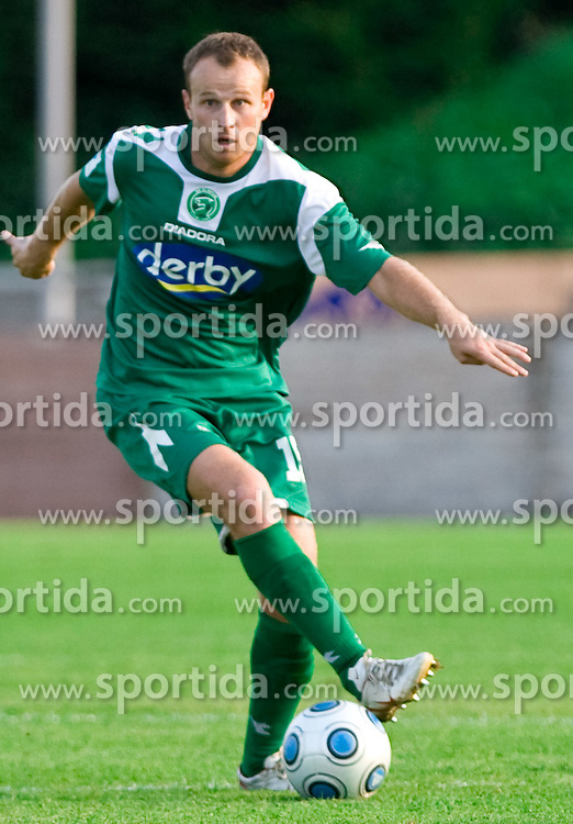 Jalen Pokorn of Olimpija  at football match between NK Olimpija vs Hit Gorica in 11th Round of Prva liga 2009 - 2010,  on September 27, 2009, in ZSD Ljubljana, Ljubljana, Slovenia.  (Photo by Vid Ponikvar / Sportida)