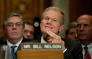 May 11,2010 - Washington, District of Columbia USA - Senator Ben Nelson (D-FL) listens to testimony during a Senate Environment and Public Works Committee Hearing on Issues in Offshore Oil Drilling. Nelson was one of five Senators testifying before the committee about the impact of the accident in the Gulf of Mexico involving the offshore oil rig Deepwater Horizon.(Credit Image: © Pete Marovich/ZUMA Press)
