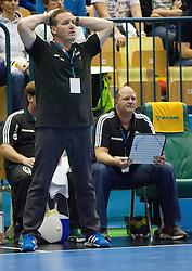 Alfred Gislason, head coach of Kiel during handball match between RK Celje Pivovarna Lasko (SLO) and THW Kiel (GER) in 5th Round of Group B of EHF Champions League 2012/13 on November 17, 2012 in Arena Zlatorog, Celje, Slovenia. Celje Pivovarna Lasko defeated Kiel 31-28. (Photo By Vid Ponikvar / Sportida)