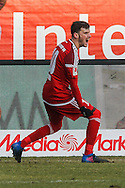 Pascal Gross of FC Ingolstadt 04 celebrates his first goal against Hamburger SV during the Bundesliga match at Audi Sportpark, Ingolstadt<br /> Picture by EXPA Pictures/Focus Images Ltd 07814482222<br /> 28/01/2017<br /> *** UK & IRELAND ONLY ***<br /> <br /> EXPA-EIB-170128-1297.jpg