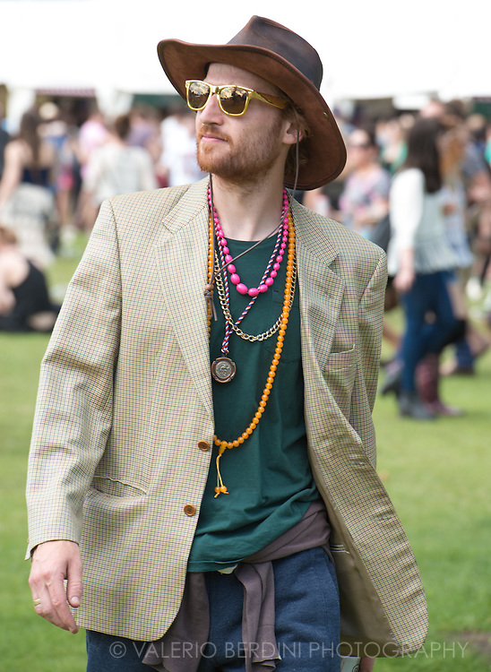 People Attending Field Day have always had a great attention to their outfit. Victoria Park, London on 7 June 2014
