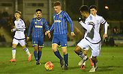 Seanan Mckillop on the attack during the FA Youth Cup match between U18 AFC Wimbledon and U18 Chelsea at the Cherry Red Records Stadium, Kingston, England on 9 February 2016. Photo by Michael Hulf.