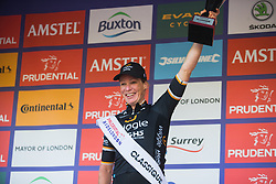 Kirsten Wild (NED) of Wiggle High5 Cycling Team celebrates the win after the Prudential RideLondon Classique - a 64.8 km road race, starting and finishing in central London on July 28, 2018, in London, United Kingdom. (Photo by Balint Hamvas/Velofocus.com)