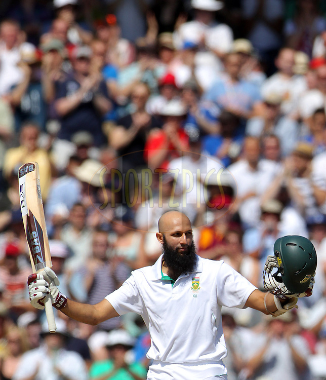 © Andrew Fosker / Seconds Left Images 2012 - South Africa's Hashim Amla celebrates his double century, hundred, 100, 200  England v South Africa - 1st Investec Test Match -  Day  4 - The Oval  - London - 22/07/2012