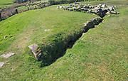 Water drainage channel at Drombeg stone circle site, County Cork, Ireland, Irish Republic