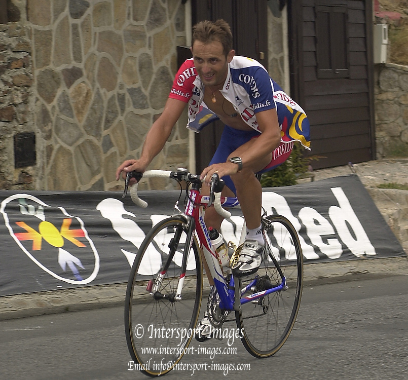 2002 Tour of Spain - SPAIN. [Vuelta Ciclista a España], Stage 5 -  El Ejido to  Sierra Nevada. .Massimilliano Lelli (ITA) Team Corfidis (FRA) © Photo Peter /Intersport Images.