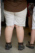 close up of an obese woman