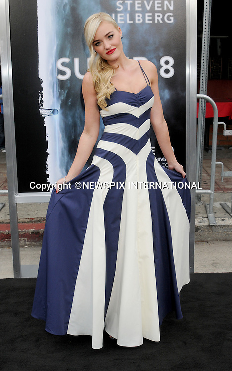 """AMANDA MICHALKA.attends the Los Angeles Premiere of """"Super 8"""" at the Regency Village Theater on June 8, 2011, Westwood, California.Mandatory Photo Credit: ©Crosby/Newspix International. .**ALL FEES PAYABLE TO: """"NEWSPIX INTERNATIONAL""""**..PHOTO CREDIT MANDATORY!!: NEWSPIX INTERNATIONAL(Failure to credit will incur a surcharge of 100% of reproduction fees)..IMMEDIATE CONFIRMATION OF USAGE REQUIRED:.Newspix International, 31 Chinnery Hill, Bishop's Stortford, ENGLAND CM23 3PS.Tel:+441279 324672  ; Fax: +441279656877.Mobile:  0777568 1153.e-mail: info@newspixinternational.co.uk"""