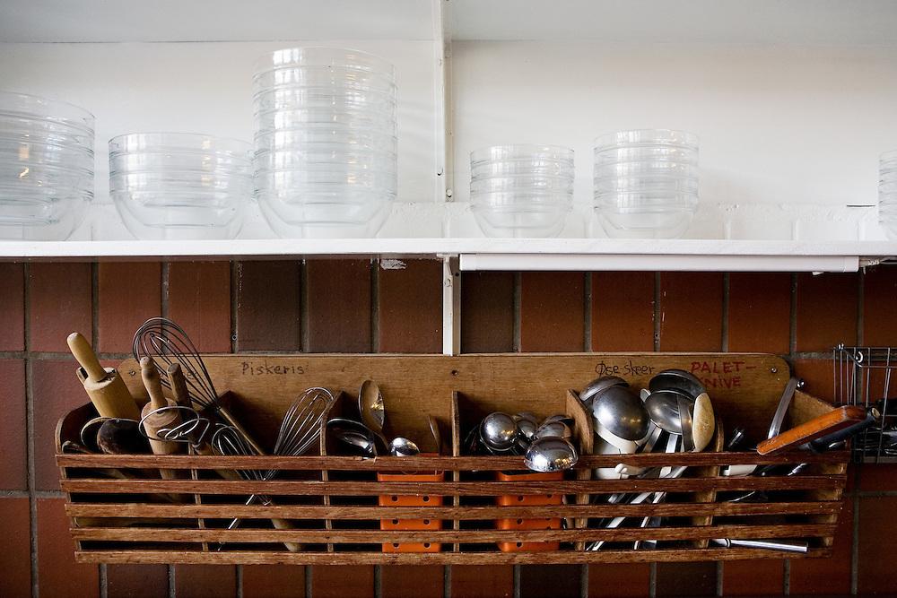 Toustrup Mark Community,  Sporup, Denmark, June 5, 2010. <br /> Kitchen tools.
