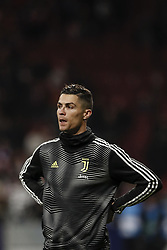 February 20, 2019 - Madrid, Spain - Cristiano Ronaldo (Juventus)  Pre-match warm-up   UCL Champions League match between Atletico de Madrid vs Juventus at the Wanda Metropolitano stadium in Madrid, Spain, February 20, 2019  (Credit Image: © Enrique De La Fuente/NurPhoto via ZUMA Press)