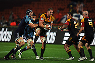Chiefs Craig Clarke looks to offload after a lineout. Investec Super Rugby - Chiefs v Blues, Waikato Stadium, Hamilton, New Zealand. Saturday 26 March 2011. Photo: Andrew Cornaga / photosport.co.nz