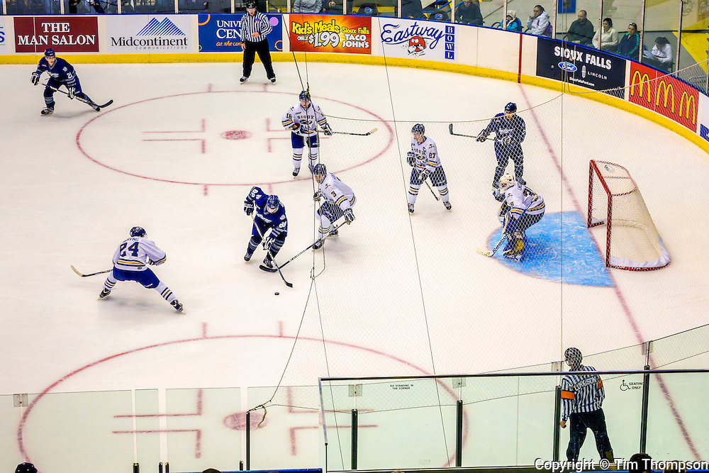 the Sioux Falls Stampede playing against the Indiana Ice at the Sioux Falls Arena