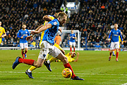 Matt Clarke (5) of Portsmouth during the EFL Sky Bet League 1 match between Portsmouth and AFC Wimbledon at Fratton Park, Portsmouth, England on 1 January 2019.