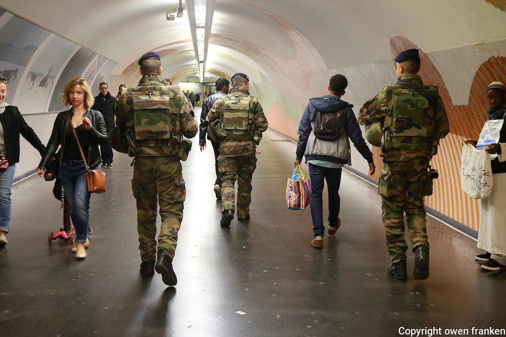 metro security, Paris