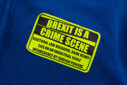 Remain campaigners have continually protested against alleged and real irregularities in the electoral process prior to the 2016 referendum. London, January 14 2019.