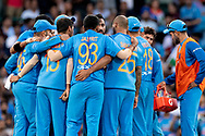 SYDNEY - NOVEMBER 25: Indian team celebrate the wicket of Australian player Aaron Finch (c) at the International Gillette T20 cricket match between Australia and India at The Sydney Cricket Ground in NSW on November 25, 2018. (Photo by Speed Media/Icon Sportswire)