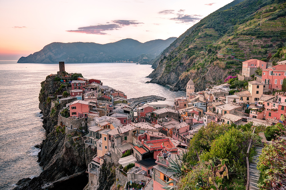 Cinque Terre, Italy. The five coastal towns of  Monterosso al Mare, Vernazza, Corniglia, Manarola, and Riomaggiore.