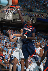 07 February 2009: Virginia Cavaliers center Assane Sene (5) during a 76-61 loss to the North Carolina Tar Heels at the Dean Smith Center in Chapel Hill, NC.