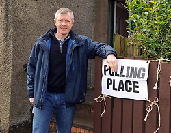 Willie Rennie, Keltybridge, 5-5-2016<br /> <br /> Willie Rennie at the poling station in Keltybridge Fife<br /> <br /> (c) David Wardle | Edinburgh Elite media