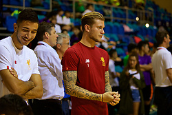 HONG KONG, CHINA - Tuesday, July 18, 2017: Liverpool's Marko Grujic and goalkeeper Loris Karius during a Premier League skills kids event at the Macpherson Stadium ahead of the Premier League Asia Trophy 2017. (Pic by David Rawcliffe/Propaganda)