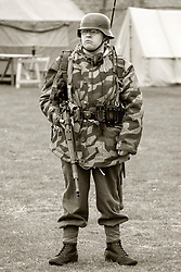 German Panzer Grenadier wearing Splinter Pattern Parka and armed with Mauser K98, Eastern front 1943 on - Nww2A Fort Paull<br /> <br />  Copyright Paul David Drabble<br /> 5th & 6th May 2019<br />  www.pauldaviddrabble.co.uk