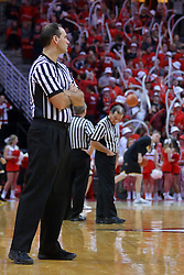 14 January 2017: Bo Boroski, Tom 'Oneill in background  during an NCAA  MVC (Missouri Valley conference) mens basketball game between the Wichita State Shockers the Illinois State Redbirds in  Redbird Arena, Normal IL