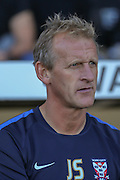 York City Assistant Manager John Schofield during the Sky Bet League 2 match between Notts County and York City at Meadow Lane, Nottingham, England on 26 September 2015. Photo by Simon Davies.