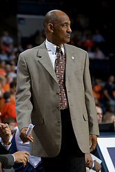 Howard head coach Gil Jackson..The Virginia Cavaliers men's basketball team faced the Howard Bison at the John Paul Jones Arena in Charlottesville, VA on November 14, 2007.