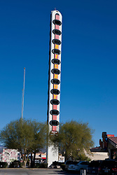 The World's Tallest Thermometer, outside of Bob's Big Boy, Baker, California, United States of America