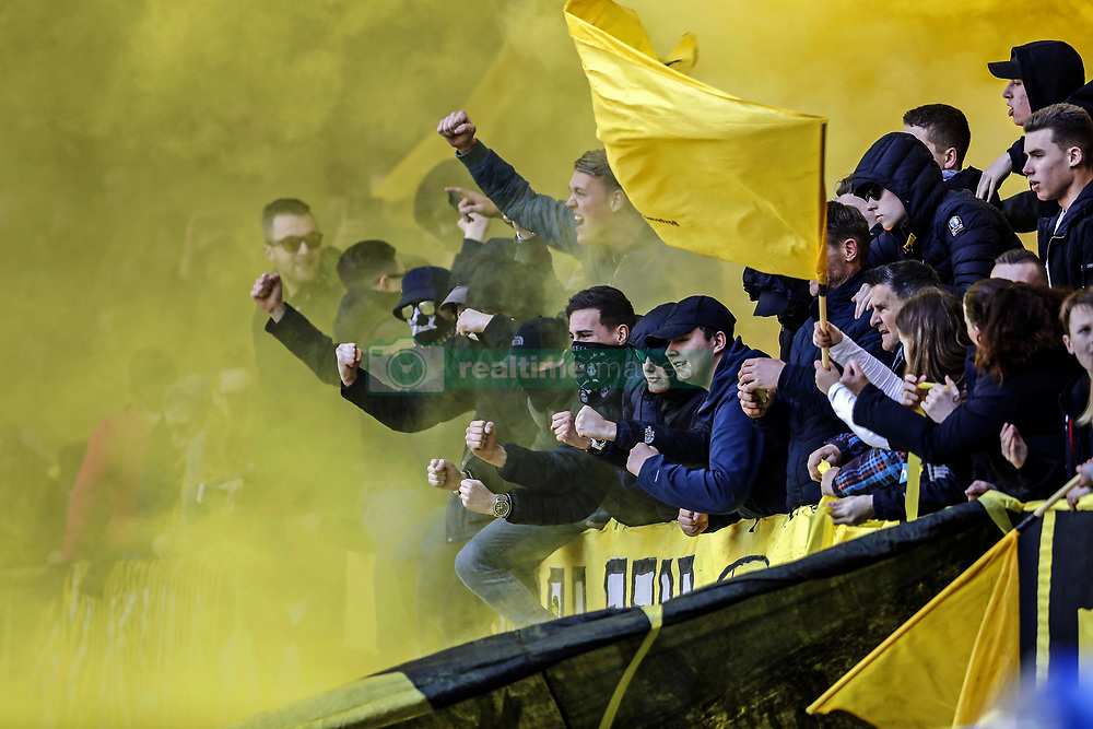 fans of Vitesse, during the Dutch Eredivisie match between Vitesse Arnhem and Ajax Amsterdam at Gelredome on March 04, 2018 in Arnhem, The Netherlands