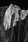 Snow fluting and avalanche runnels on Nuptse Peak (7879 Meters), Khumbu Himal, Nepal