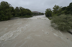 59754187<br /> Floods at Maximilian Bridge, Munich, Germany, June 3, 2013 .UK ONLY, June 3, 2013 .UK ONLY
