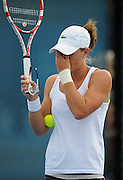 Brisbane, Australia, December 30: Sam Stosur of Australia rubs her eyes during a training session on Show Court 5 at Pat Rafter Arena ahead of the 2012 Brisbane International Tennis Tournament in Brisbane, Australia on Friday December 30th, 2011. (Photo: Matt Roberts/Photo News)