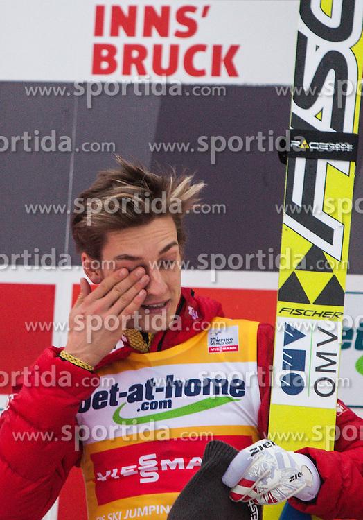 04.01.2013, Bergisel Schanze, Innsbruck, AUT, FIS Ski Sprung Weltcup, 61. Vierschanzentournee, Podium, im Bild Sieger Gregor Schlierenzauer (AUT) // Winner Gregor Schlierenzauer of Austria  during Podium of 61th Four Hills Tournament of FIS Ski Jumping World Cup at the Bergisel Schanze, Innsbruck, Austria on .2013/01/04. EXPA Pictures © 2012, PhotoCredit: EXPA/ Juergen Feichter