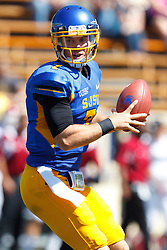 September 24, 2011; San Jose, CA, USA;  San Jose State Spartans quarterback Matt Faulkner (7) stands in the pocket against the New Mexico State Aggies during the first quarter at Spartan Stadium.
