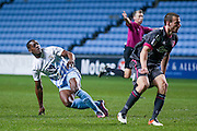 Coventry City forward Marvin Sordell (17) scores a goal  to make the score 2-1 during the The FA Cup match between Coventry City and Morecambe at the Ricoh Arena, Coventry, England on 15 November 2016. Photo by Simon Davies.