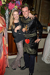 FREDDIE COLERIDGE and KITTY MACPHERSON at the Tatler Magazine's Kings & Queens party held at Savini at Criterion, Piccadilly, London on 1st June 2016.