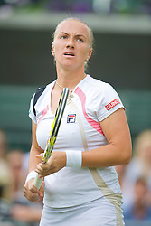 LONDON, ENGLAND - Friday, June 26, 2009: Svetlana Kuznetsova (RUS) during the Ladies' Doubles 2nd Round match on day five of the Wimbledon Lawn Tennis Championships at the All England Lawn Tennis and Croquet Club. (Pic by David Rawcliffe/Propaganda)