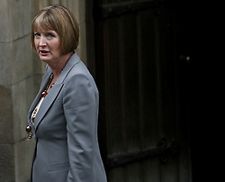© Licensed to London News Pictures. 12/06/2012. London,Britain.Harriet Harman MP, Labour's Deputy Leader arrives at the Leveson Inquiry in the Royal Courts of Justice. Photo credit : Thomas Campean/LNP..