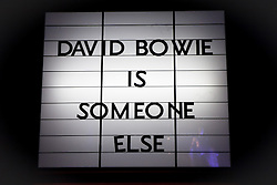 """© Licensed to London News Pictures. 20/03/2013 London, UK. Press viewing for the opening of the David Bowie Retrospective exhibition titled 'David Bowie Is"""" at V&A Museum in London, ,England on March 20, 2013. Photo credit VictorFrankowski/LNP"""