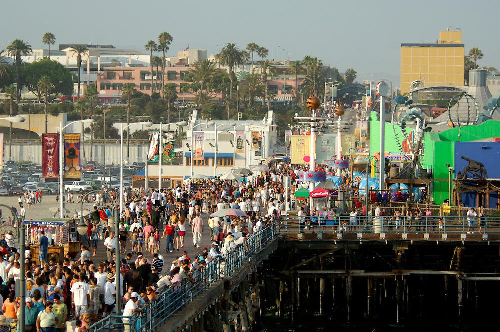 Santa Monica Pier, Santa Monica Beach, Santa Monica, Los Angeles, California, United States of America
