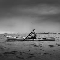 Kayakker on  San Francisco Bay