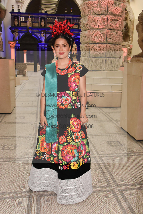 "Salma Hayek at the opening of ""Frida Kahlo: Making Her Self Up"" Exhibition at the V&A Museum, London England. 13 June 2018."
